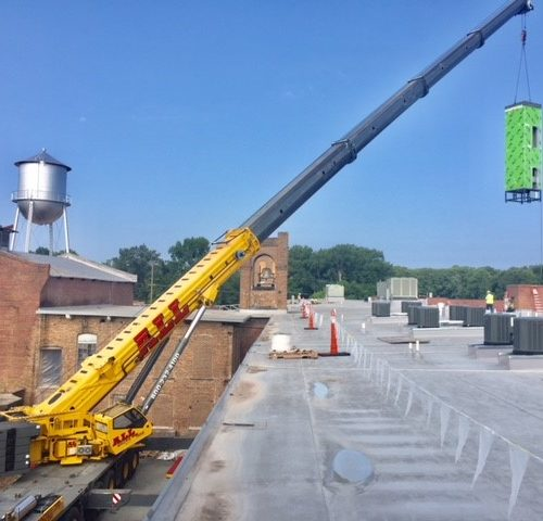 New modular elevator added to mill building